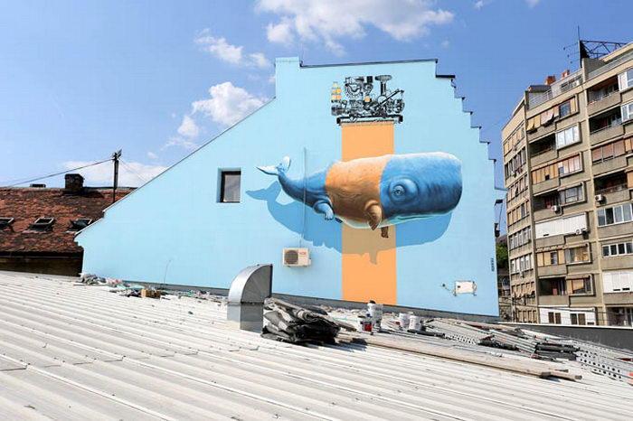 Граффити Nevercrew, говорящие о проблемах экологии