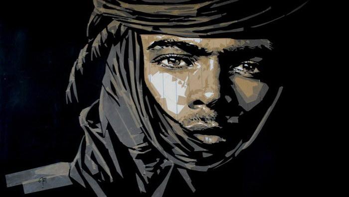 Портреты марокканцев, сделанные с помощью упаковочной ленты
