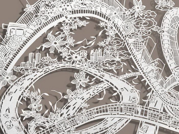 Бумажные творения Bovey Lee