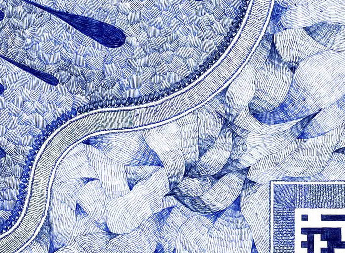 Ковры Jonathan Breechignac, нарисованные шариковой ручкой