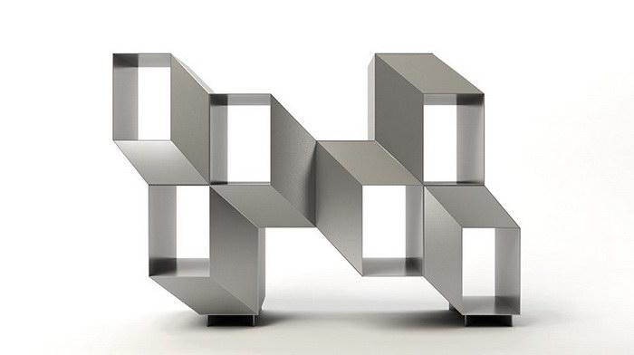 Интересный стеллаж с эффектом 3D