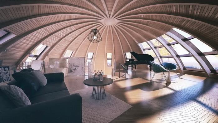 Экологичное жилье нового поколения: проект «Скайдом»