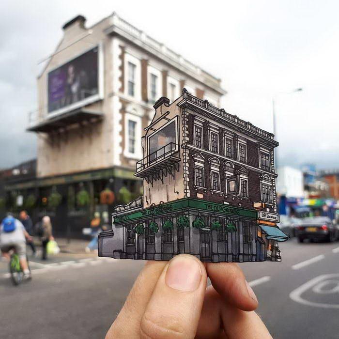Вырезанные достопримечательности Лондона Maxwell Tilse