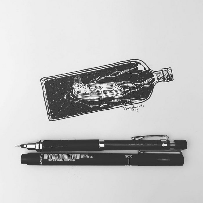 Рисунки ручкой Joseph Catimbang
