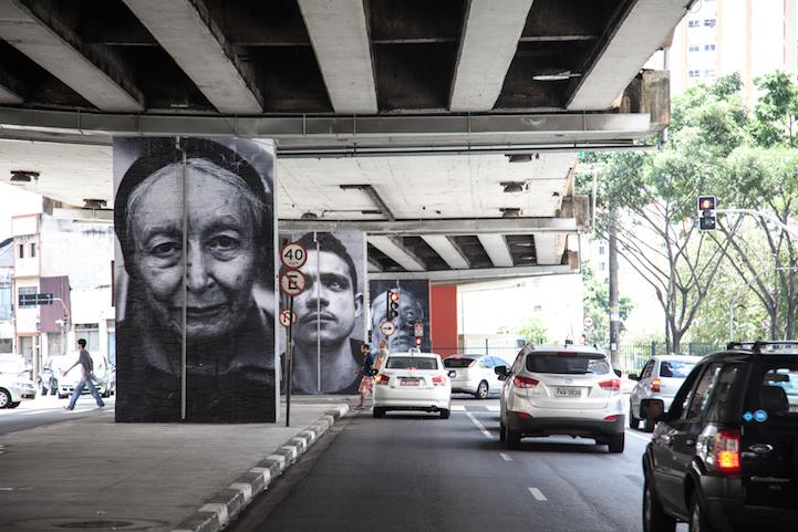Портреты на улицах Сан-Пауло