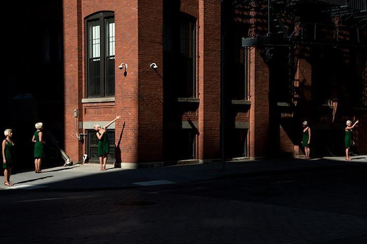 Автопортреты Veronika Marquez на фоне Нью-Йорка