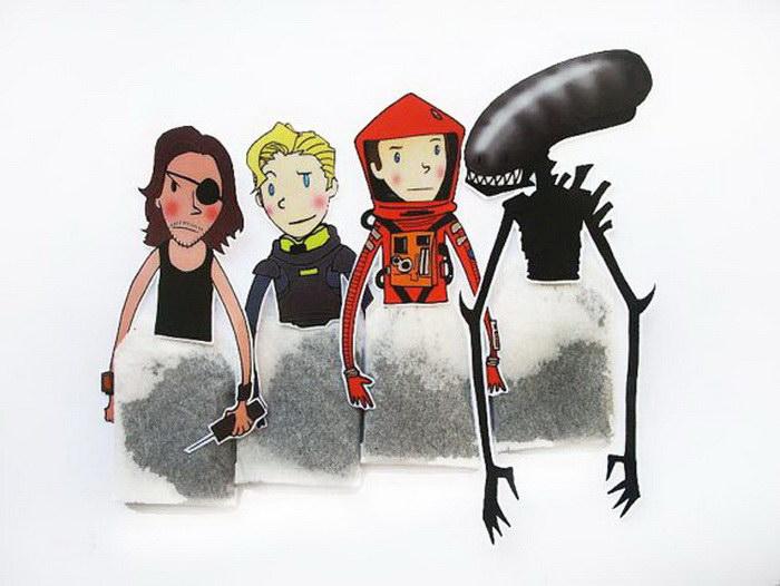 Чайные пакетики с любимыми героями мультфильмов и кино