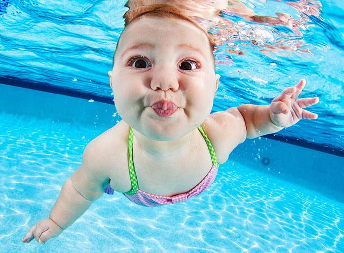 Подводная съемка малышей Seth Casteel