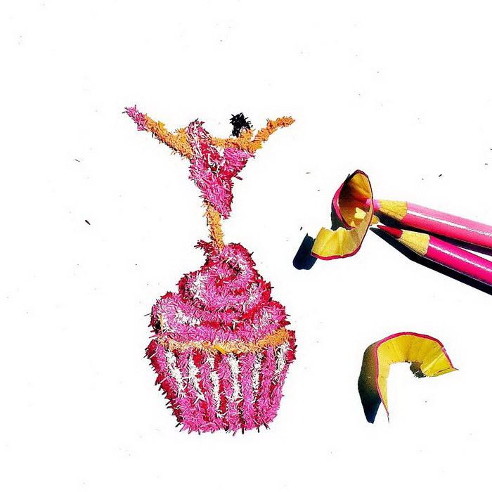 Картины из карандашных опилок Meghan Maconochie