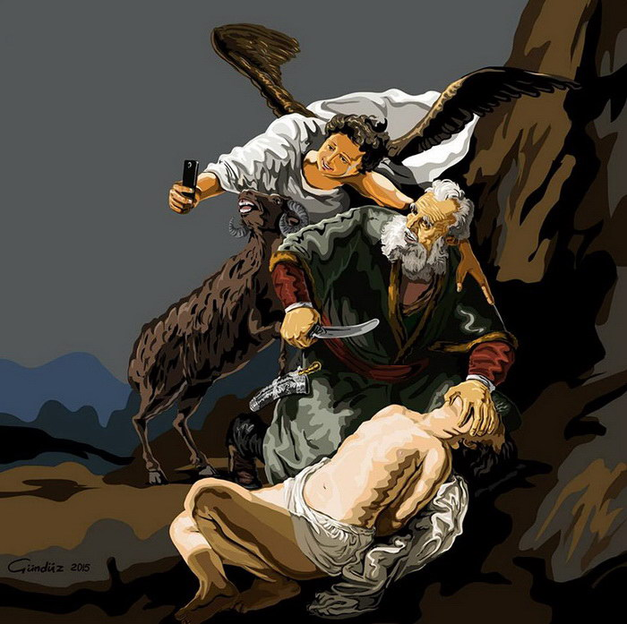 Религиозные селфи Gunduz Agayev