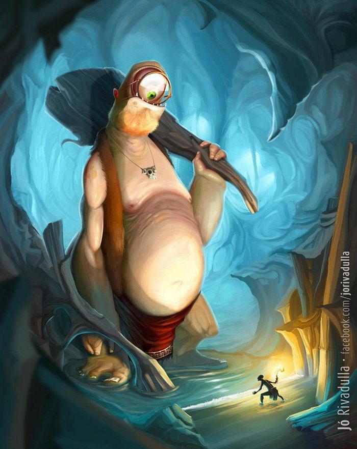 Забавные иллюстрации Jo Rivadulla