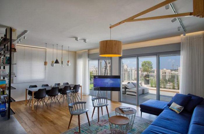 Интерьер пентхауса в пригороде Тель-Авива
