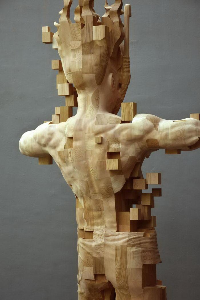 Деревянные скульптуры Hsu Tung Han