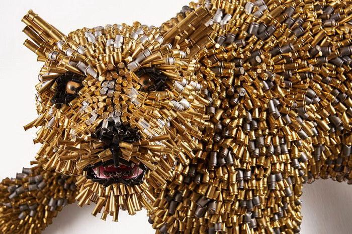 Скульптуры из пуль Federico Uribe