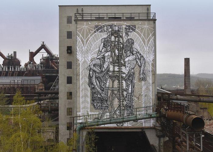 Необычные граффити MonkeyBird