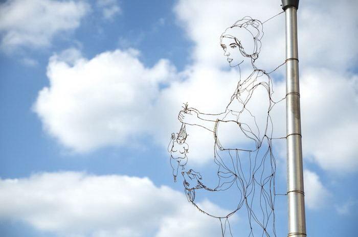 Проволочные скульптуры Spenser Little