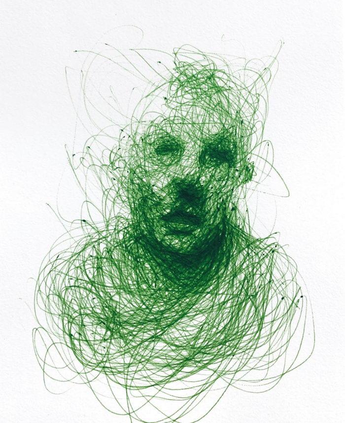 Портреты шариковой ручкой Adam Riches