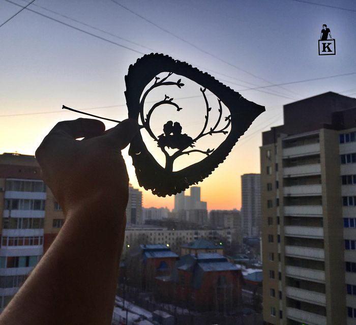 Оригинальная резьба по листве Kanat Nurtazin