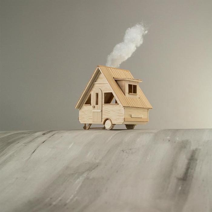Деревянные домики Vera van Wolferen