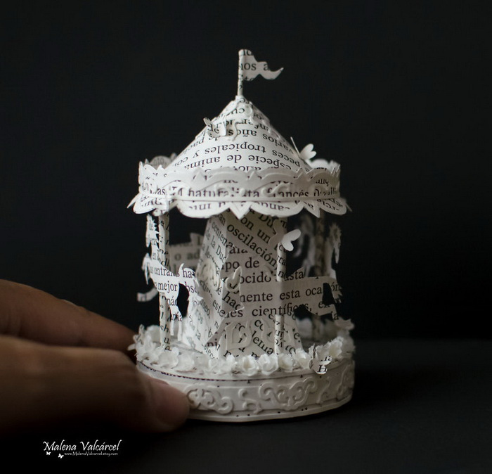 Бумажные скульптуры Malena Valcarcel