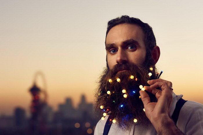 Гирлянда для бороды сделает вас ходячим праздником