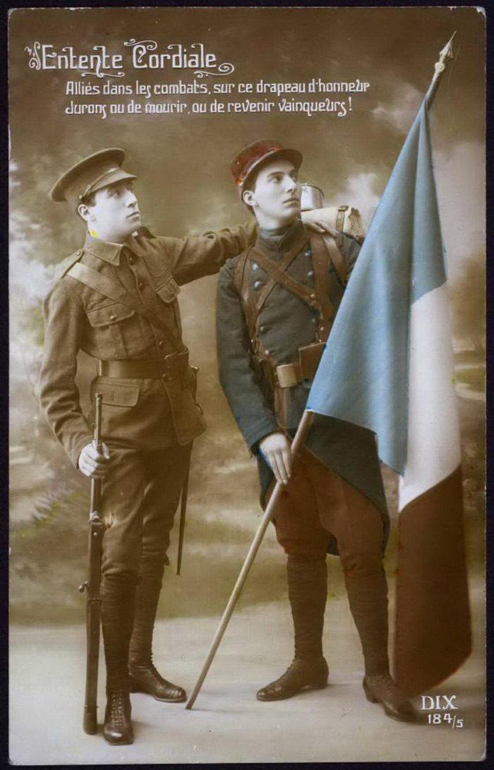 Французские открытки времен Первой Мировой войны