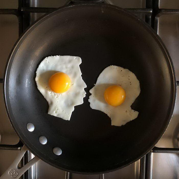Искусство глазуньи: яичницы Michele Baldini