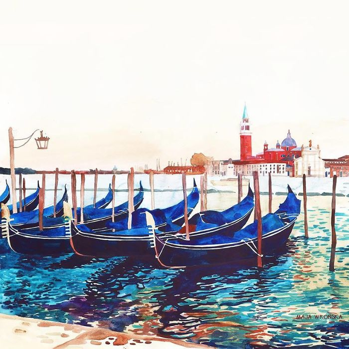 Венеция в акварелях Maja Wronska