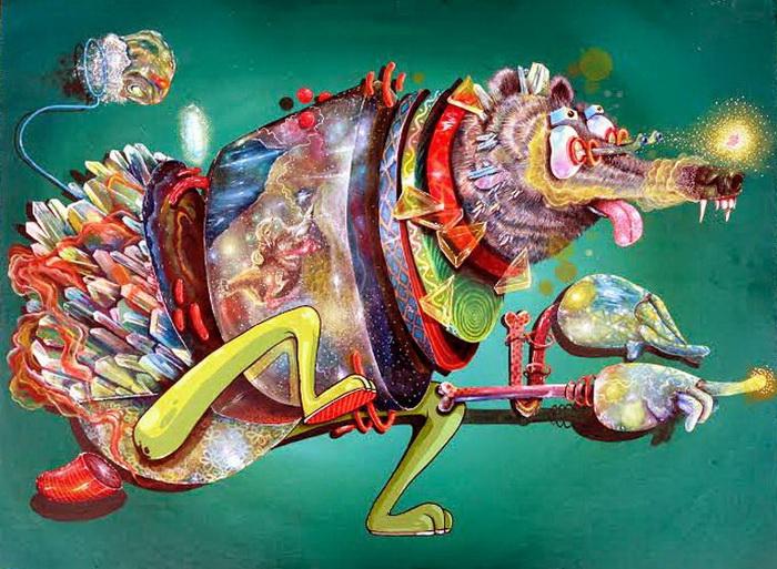 Яркий безумный мир в иллюстрациях Nosego