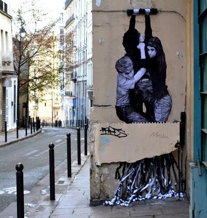 Уличный художник Levalet