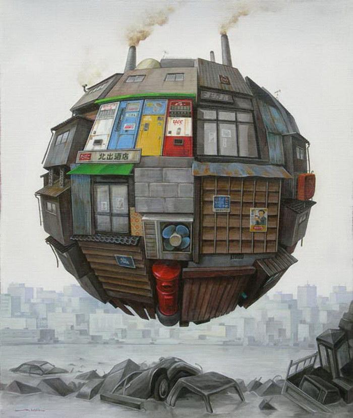 Апокалиптические картины Sashie Masakatsu
