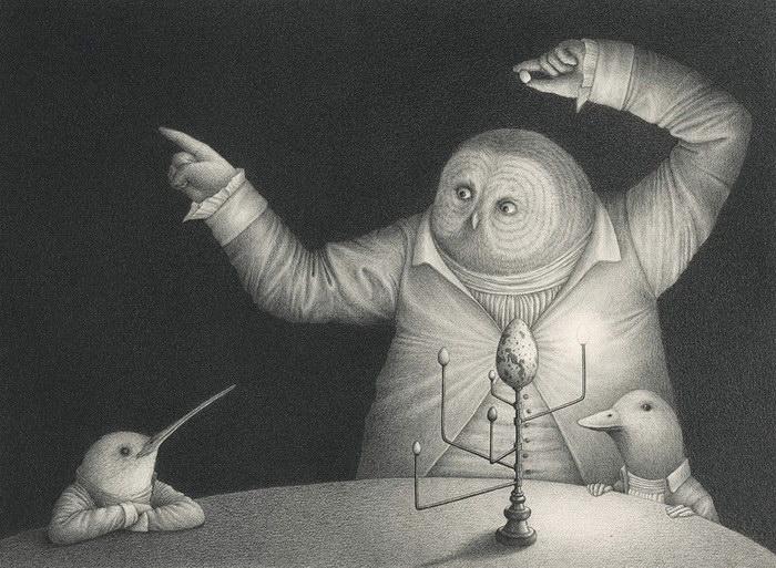 Карандашные рисунки David Álvarez