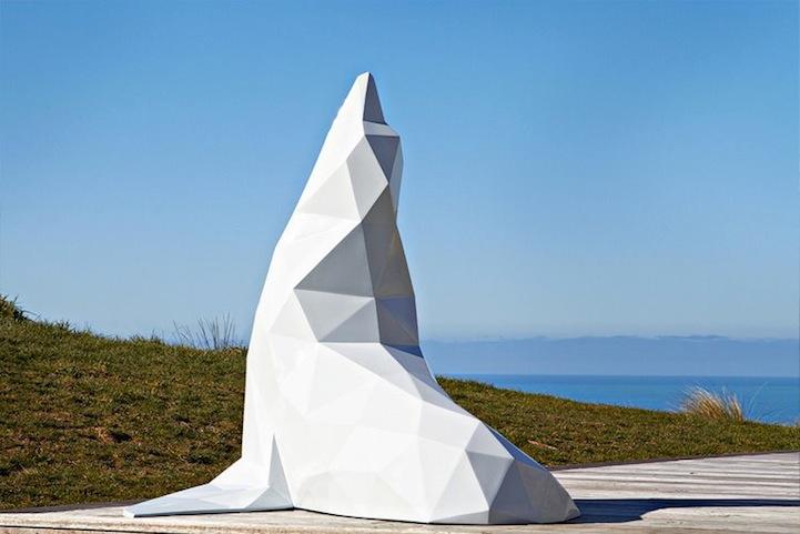Геометрические скульптуры животных Ben Foster