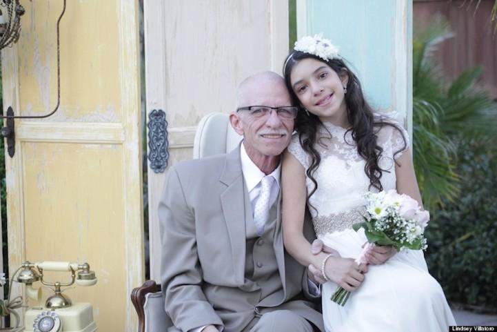 Девочка в 11 лет пошла к алтарю со своим смертельно больным отцом