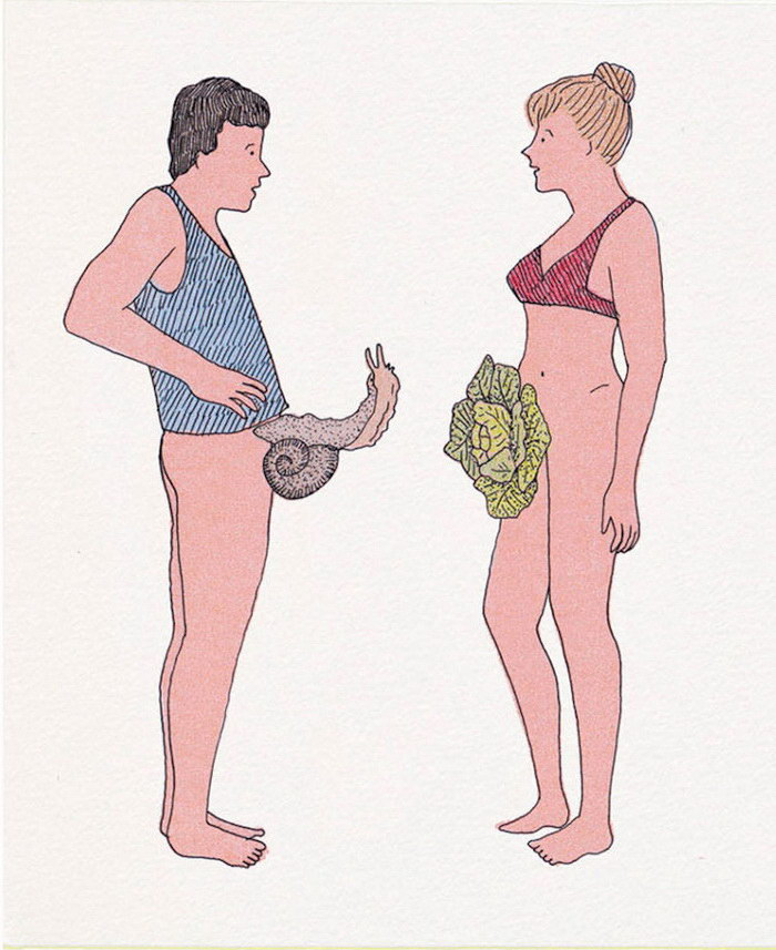 Остроумные эротические иллюстрации Marion Fayolle