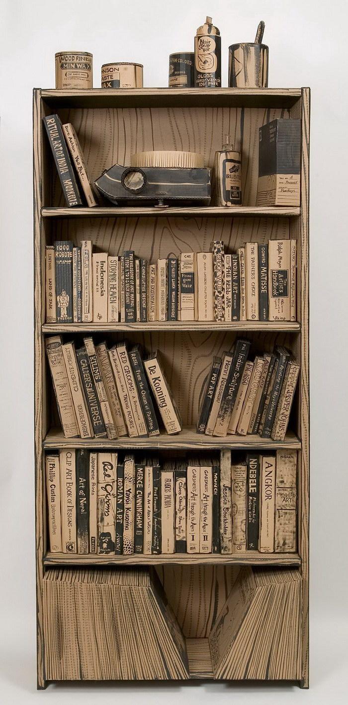 Художественная студия, сделанная целиком из картона