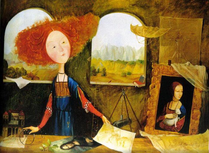 Лиза и ее сны: иллюстрации Евгении Гапчинской