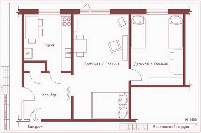 Планировки квартир в известных советских фильмах