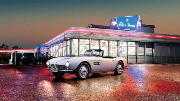 Восстановленный BMW 507 Элвиса Пресли