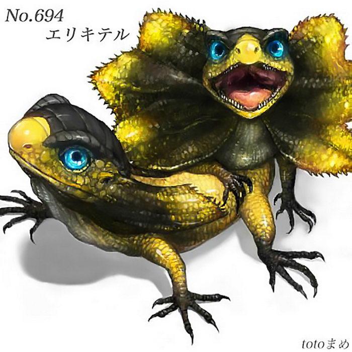 Покемоны как реальные зверьки: рисунки Totomame