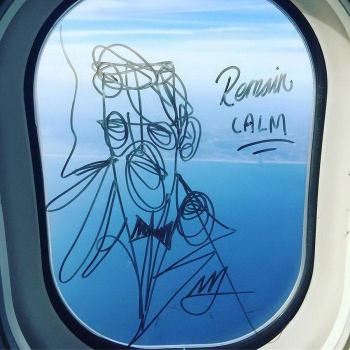Рисунки на иллюминаторах самолетов Stephen Palladino