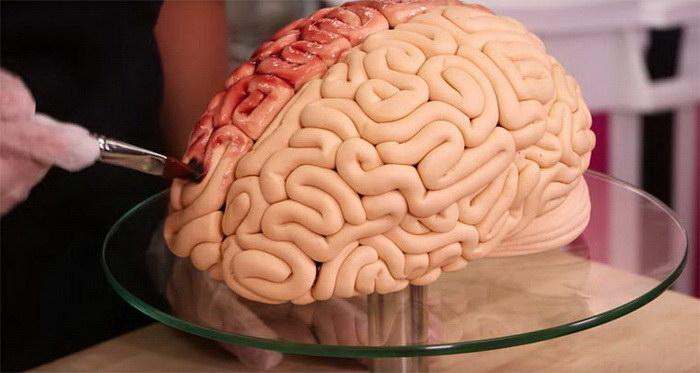 Торт в виде мозгов: идеальное угощение на Хэллоуин