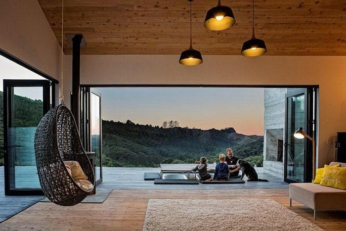 Интересный дом в затерянных лесах Новой Зеландии