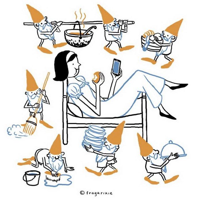 Гаджеты в 21 веке: иллюстрации Fragarixie