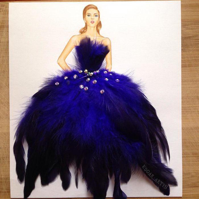 Платья из повседневных предметов: работы Edgar Artis