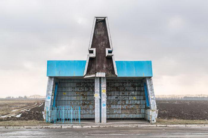 Советские автобусные остановки на фото Christopher Herwig
