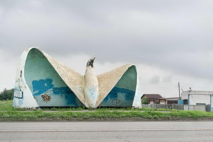 Советские автобусные остановки в фото Christopher Herwig