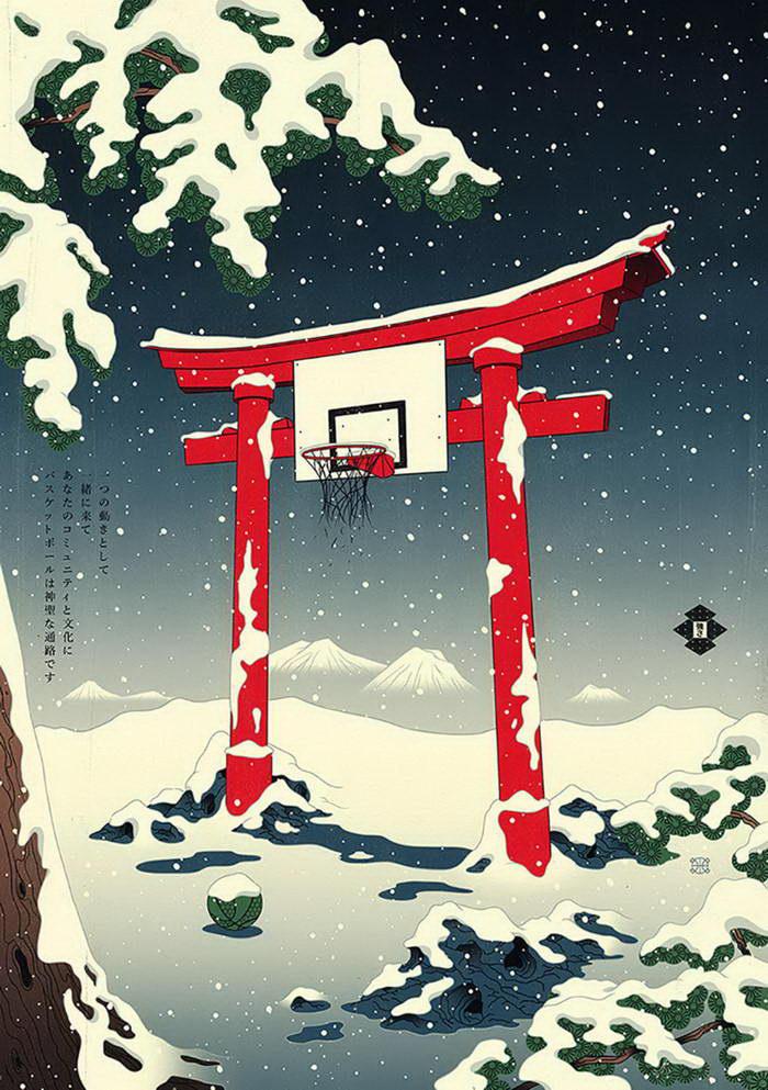 Баскетбол и древняя Япония: проект Andrew Archer
