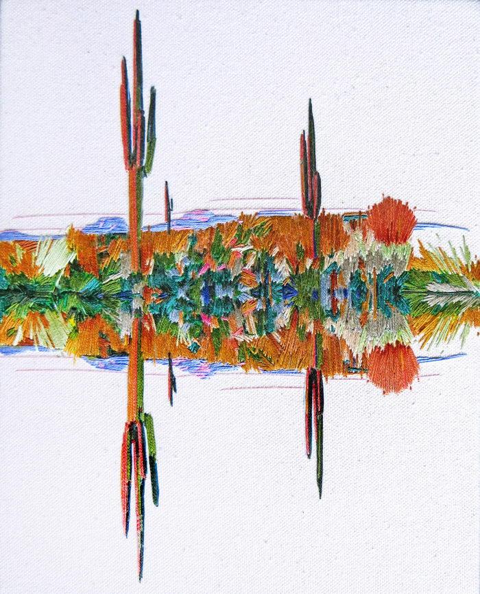 Рисунки нитками Stephanie K. Clark