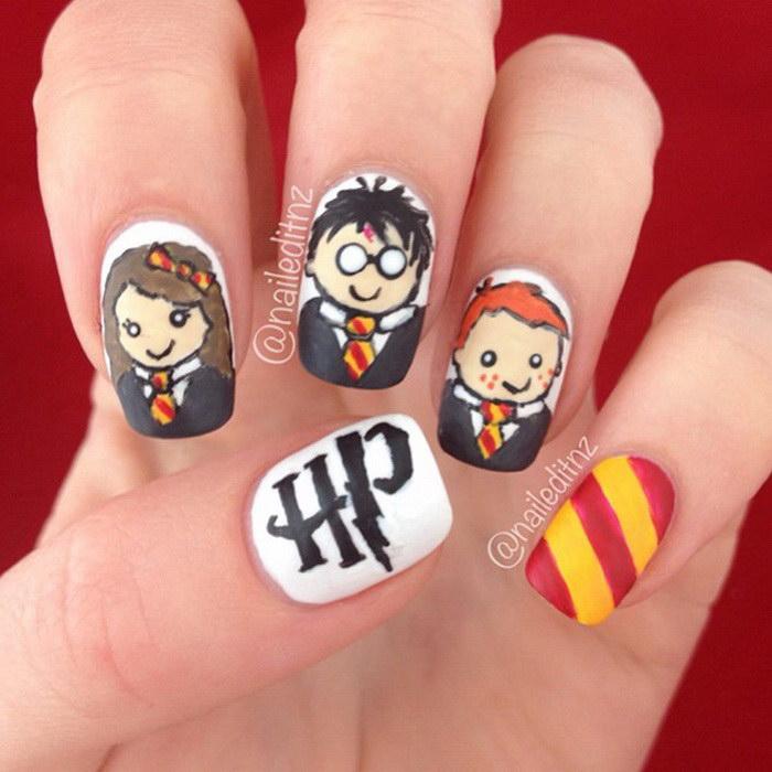 Идеи для маникюра в стиле Гарри Поттера